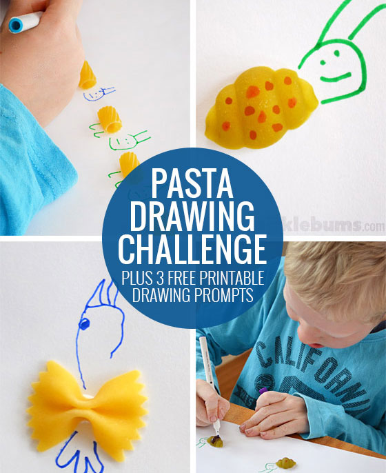 Pasta Drawing Prompt - Free printable