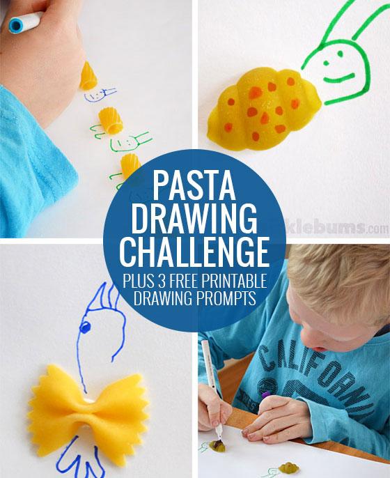 Pasta Drawing Prompt - Free printable
