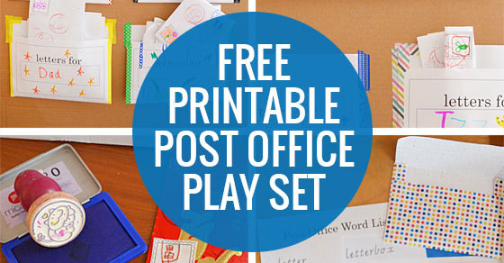 Office Play Throughout Post Office Play Free Printable Set Picklebums