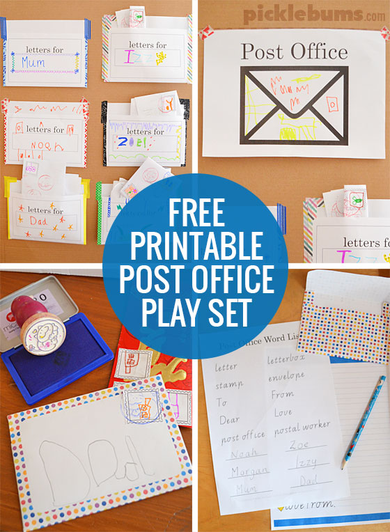 Post Office Play Use Our Free Printables To Set Up Your Own Complete