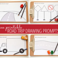 Road trip drawing prompts - free printable