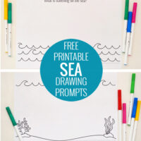 Sea drawing prompts - Free printable
