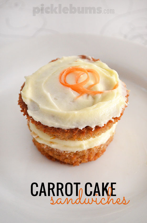 Easy Carrot Cake recipe - make mini carrot cake sandwiches!