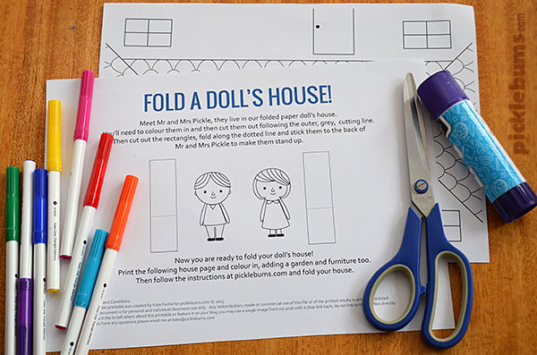 Make A Paper DollS House  Free Printable  Picklebums