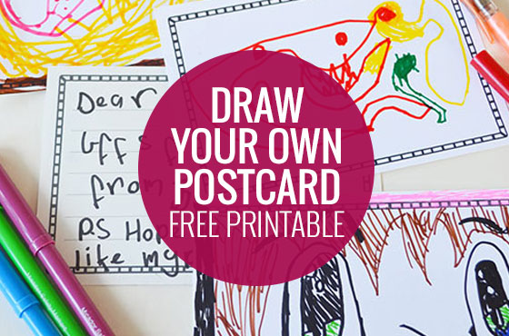 Draw your own post card - free printable