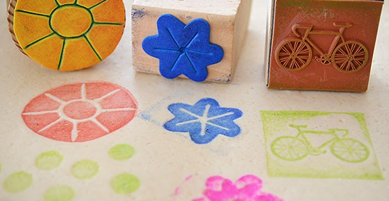 Play dough stamping - a simple and fun play dough activity.