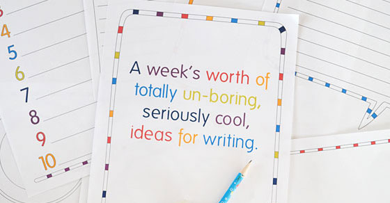 Fun Free Printable Writing Prompts for Kids - Picklebums