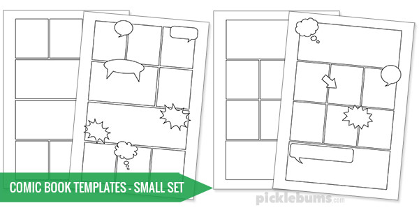 Free printable comic book templates picklebums for Printable blank comic strip template for kids