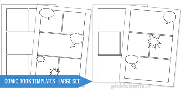 Free printable comic book templates picklebums for Comic strip template maker