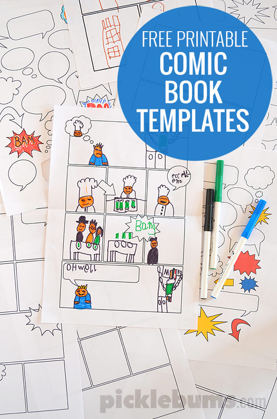 photo about Comic Template Printable called Absolutely free Printable Comedian Guide Templates! - Pickles