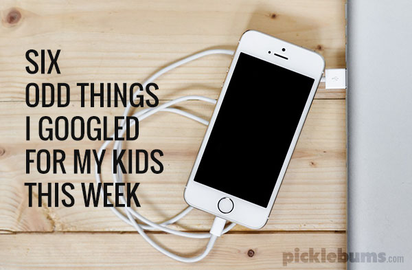 Six odd things I googled for my kids this week... tell me I am not alone with the weird kid questions?