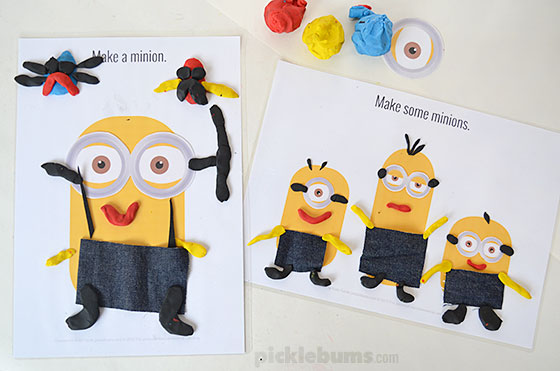Make a Minion! Free Printable Play Dough Mats