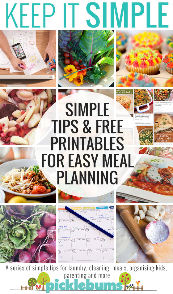 Simple tips and free printables for easy meal planning