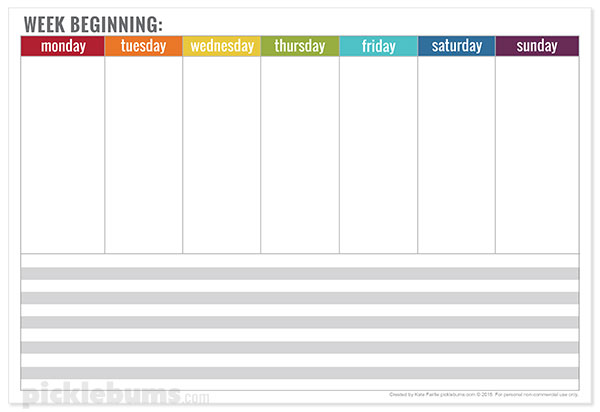 Free printable weekly planner picklebums for To do planner online