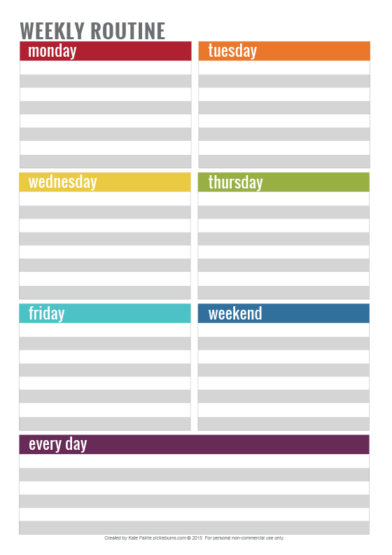 Simple tips and tricks for staying on top of cleaning - free printable weekly routine.