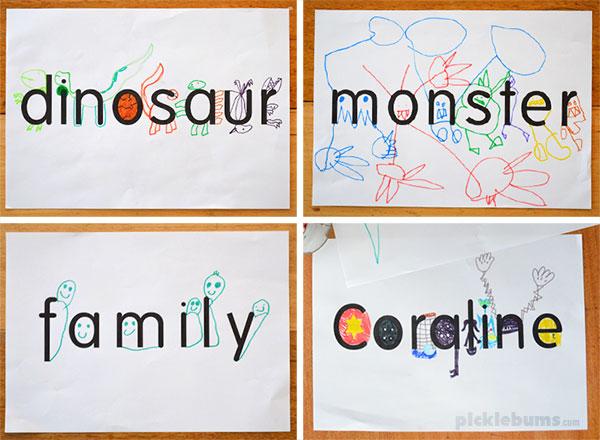 Word Drawing Picklebums
