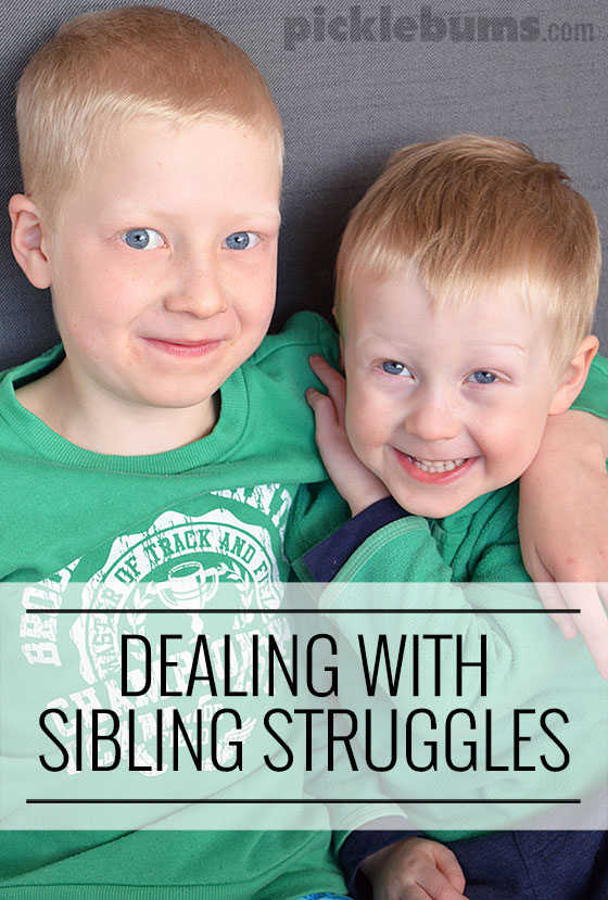 Dealing with sibling struggles - ideas from a parent who is dealing with it and links to more information.