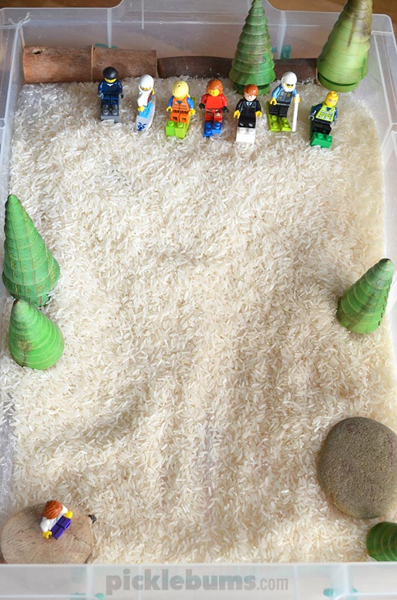 Snow Slope Imaginary play - a simple way to follow your child's interests.