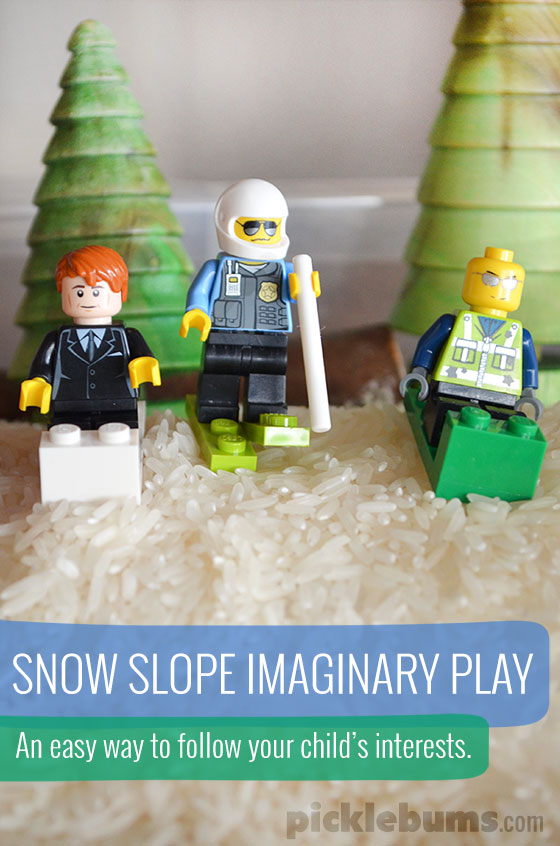 Snow Slope Imaginary play - what happens when we follow our children's interests?