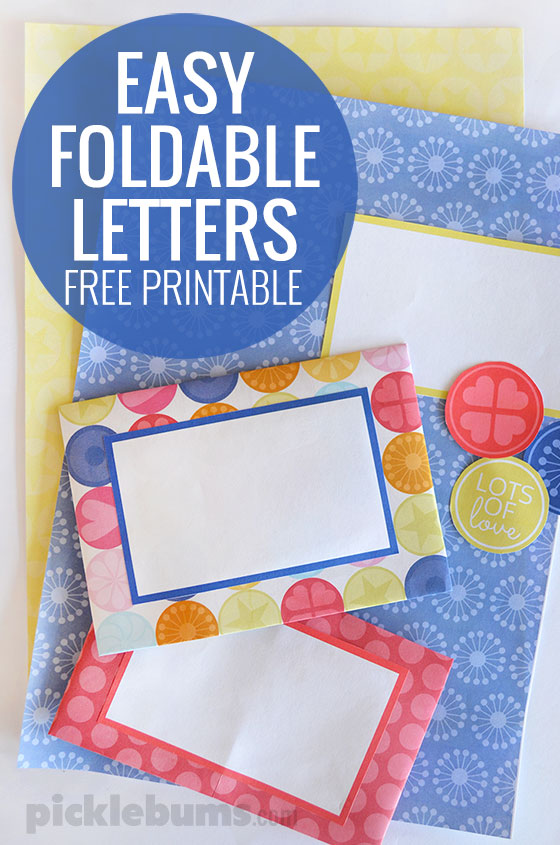 Two easy to fold envelopes - turn a single piece of paper into a letter ready to post. using this free printable