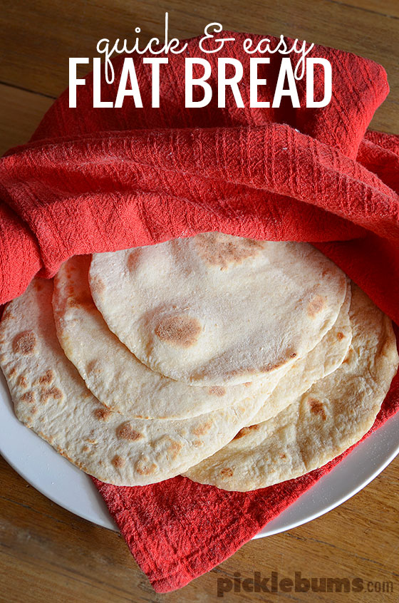 Quick and easy, no yeast, flat bread recipe.