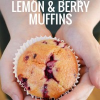 Lemon and berry muffins - a quick and easy Monday morning treat