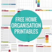 Simple Home Organisation Printables
