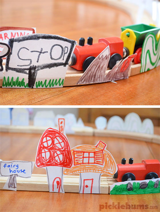 DIY paper landscapes for your train tracks