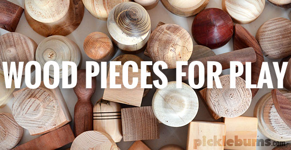 wood pieces for play
