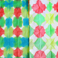 Easy Dip Dyed Wrapping Paper