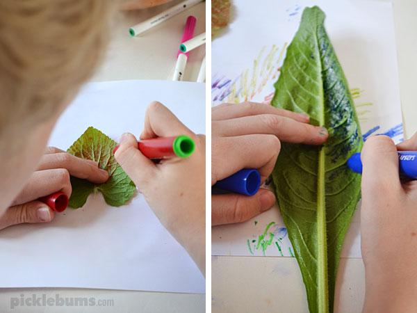 Easy Leaf Printing - Picklebums