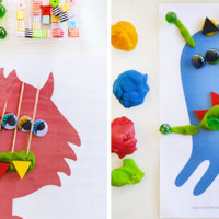 Monster Play Dough Mats – Free Printable