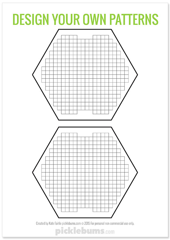 Free printable design your own patterns for Qixels and perler beads