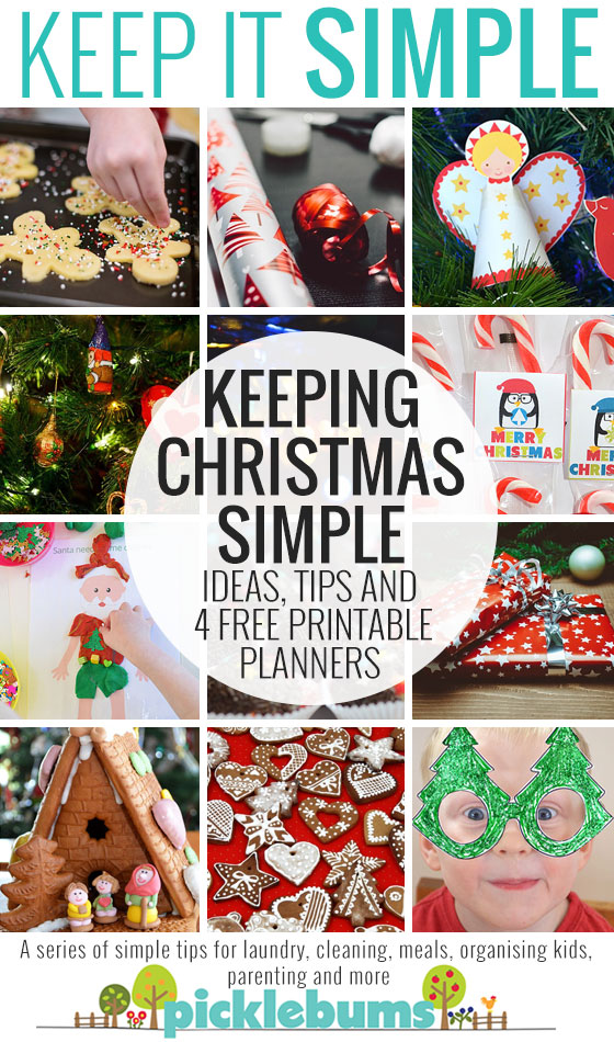 Simple tips for a calm Christmas - plus four free printable planners