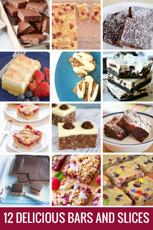 12 Delicious bar and slice recipes