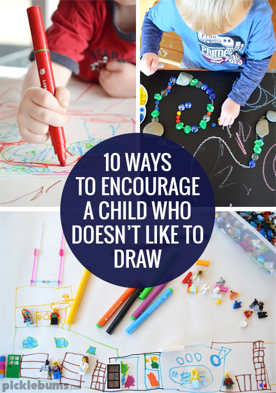 Do you have a child who doesn't like to draw? Here are ten ways to encourage them and loads of ideas to try.