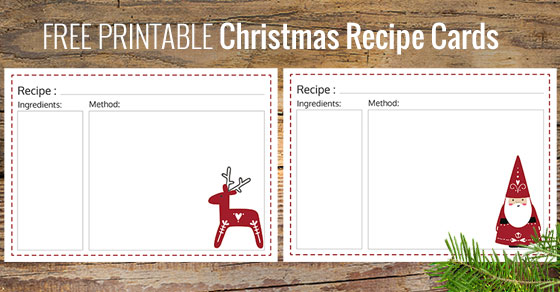 Remarkable image in printable christmas recipe cards