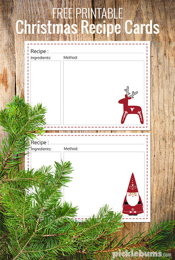 photograph regarding Printable Christmas Recipe Cards known as 10 Mouth watering Foods Items + No cost Printable Recipe Playing cards