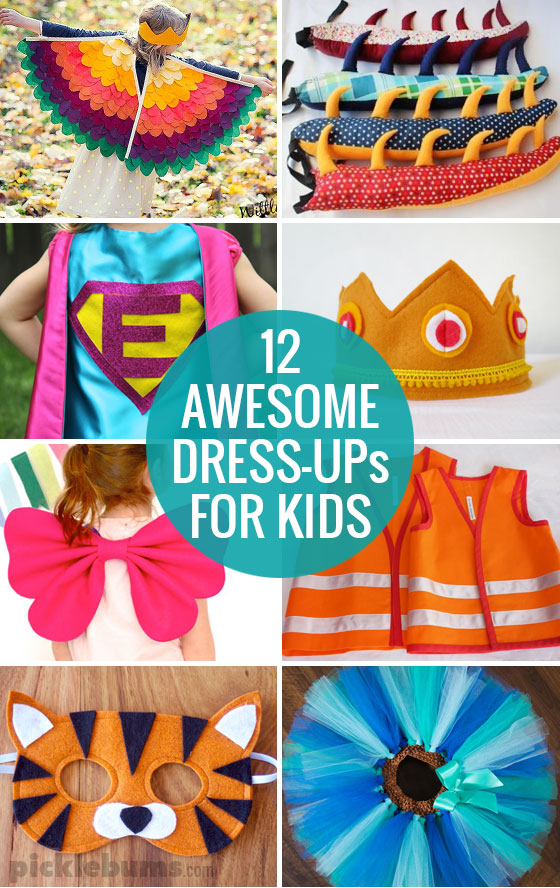 12 Awesome Dress-ups for kids and tips for making dress up play easy and fun!