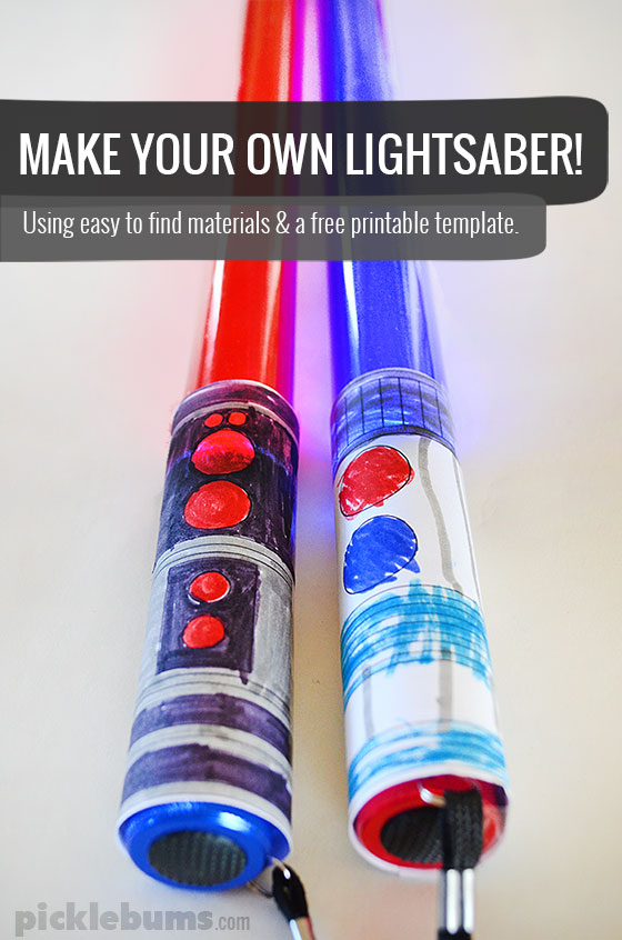 make a lightsaber picklebums
