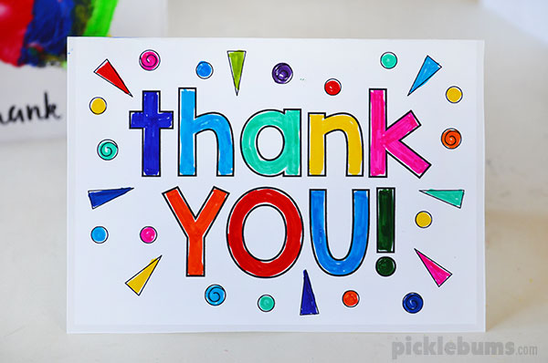This is an image of Genius Free Printable Thank You Cards for Kids
