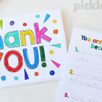 Free Printable Thank You Cards to Make With Your Kids