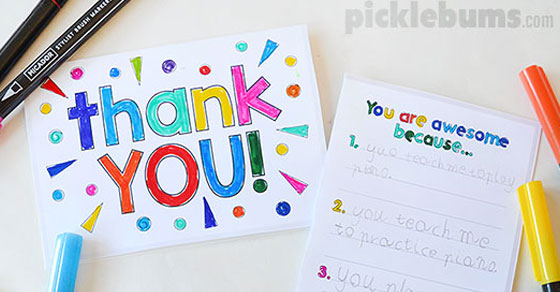 photograph relating to Printable Thank You Cards for Students referred to as Printable Thank On your own Playing cards toward Generate With Your Children