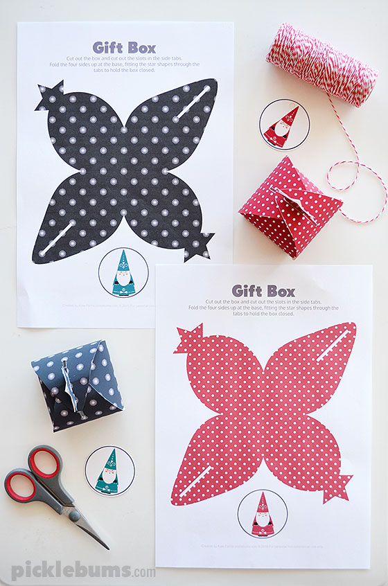 Free Printable Christmas Gift Boxes - print and fold these cute little ...