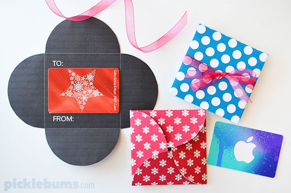 Free printable gift card holders picklebums free printable gift card holder make giving vouchers a little more fun negle