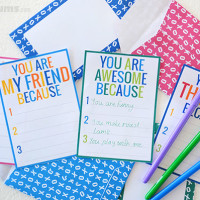 'Because' Cards – free printable notecards and envelopes