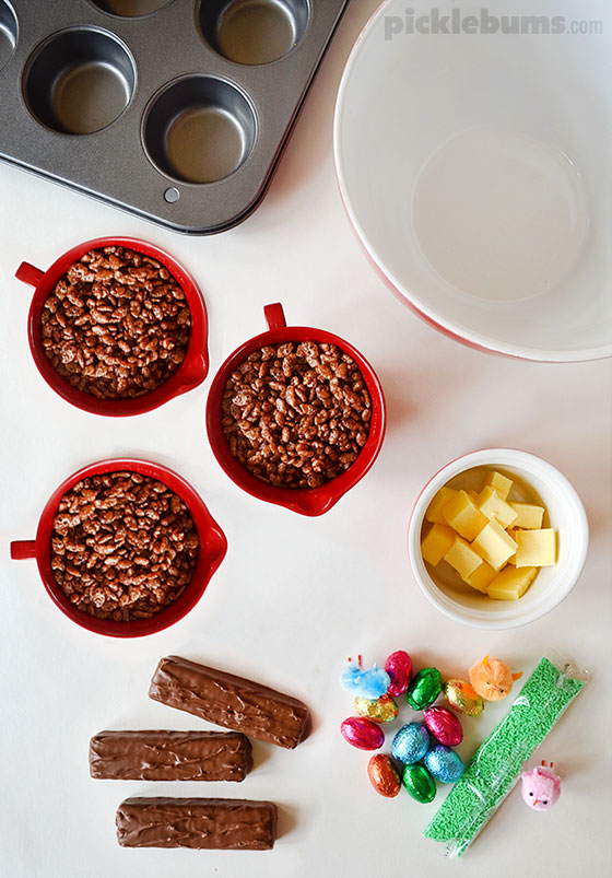Chocolate Easter Nests - an easy recipe that kids can cook!