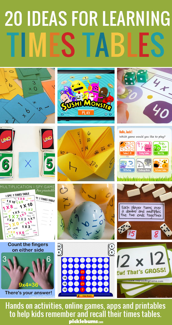 Helping kids learn their times tables picklebums - Free online times tables games ...