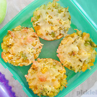 Rice and Veggie Muffins - this easy recipe is great for school lunches, or even as a side dish.