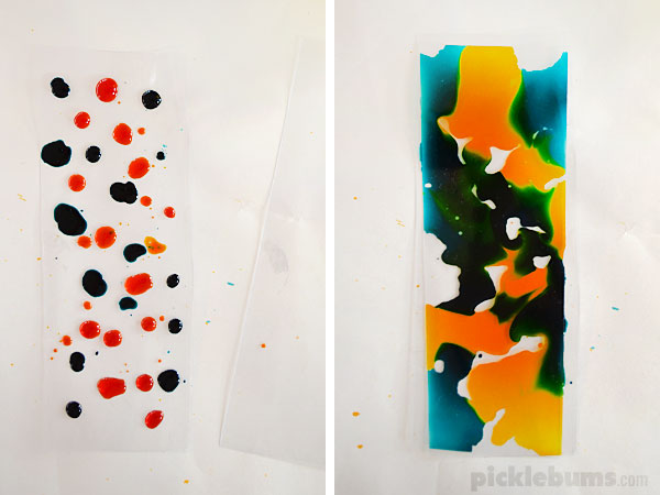 Water Colours On Plastic A Magical See Through Painting Activity
